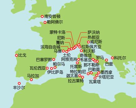 地中海航线图