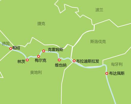 河轮航线图