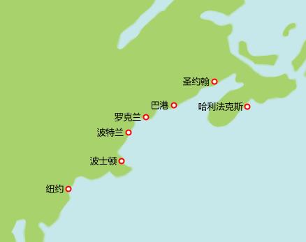 美加航线图